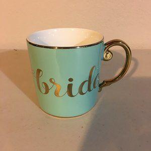 NWOT TIFFANY BLUE & GOLD BRIDE COFFEE MUG CUP